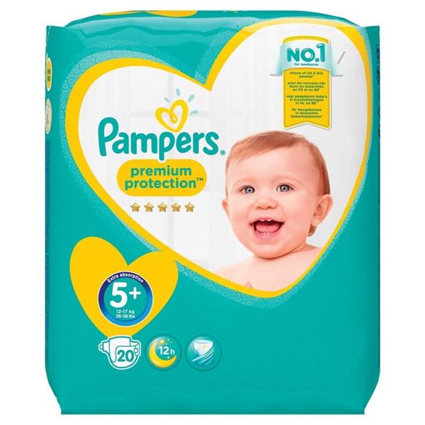 Pampers premium protection  luiers junior 5+ carry pack voorkant