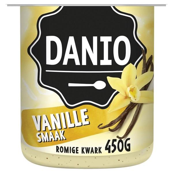 Danio fruitkwark vanille voorkant