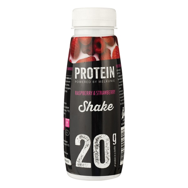 Melkunie protein shake strawberry - raspberry voorkant
