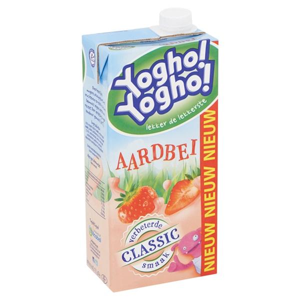 Yogho Yogho Drinkyoghurt Aardbei achterkant