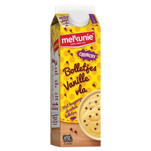 Melkunie Bolletjes vla vanille crunch achterkant