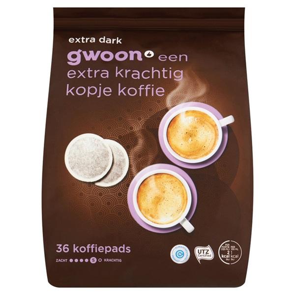 Gwoon koffiepads extra dark voorkant