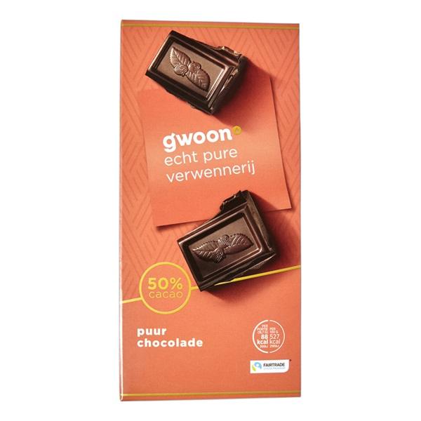 Gwoon chocolade puur voorkant