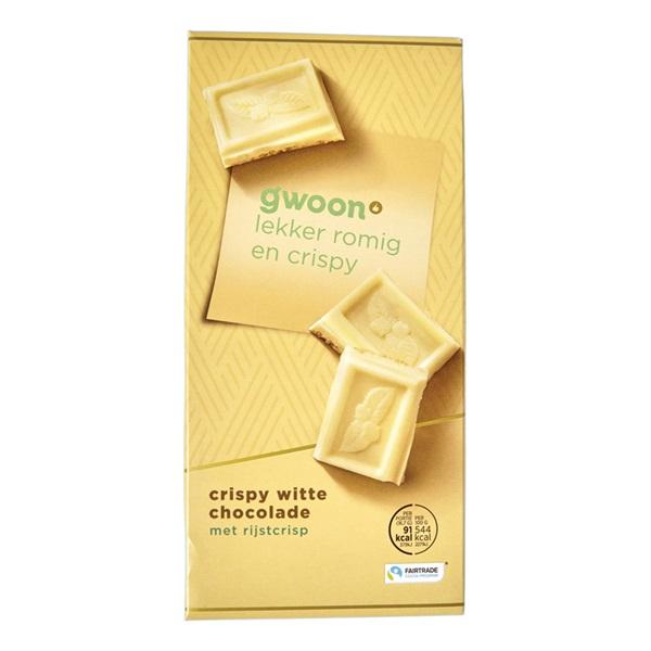 Gwoon chocolade crispy wit voorkant