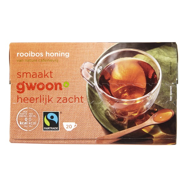 Gwoon thee 1-kops rooibos honing voorkant