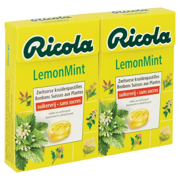 Ricola Keelpastilles Lemon Mint achterkant