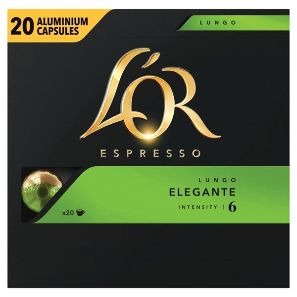 Douwe Egberts l'or koffie capsules lungo elegante voorkant