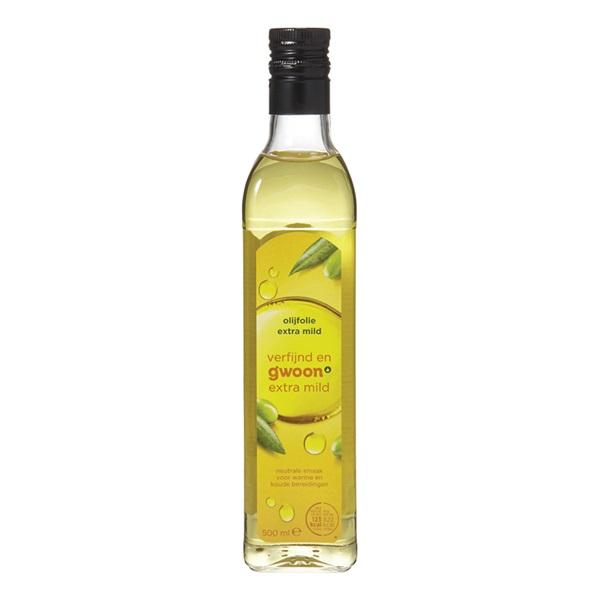 Gwoon olijfolie extra mild voorkant