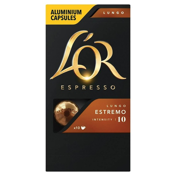 Douwe Egberts L'OR koffiecapsules Lungo Estremo voorkant
