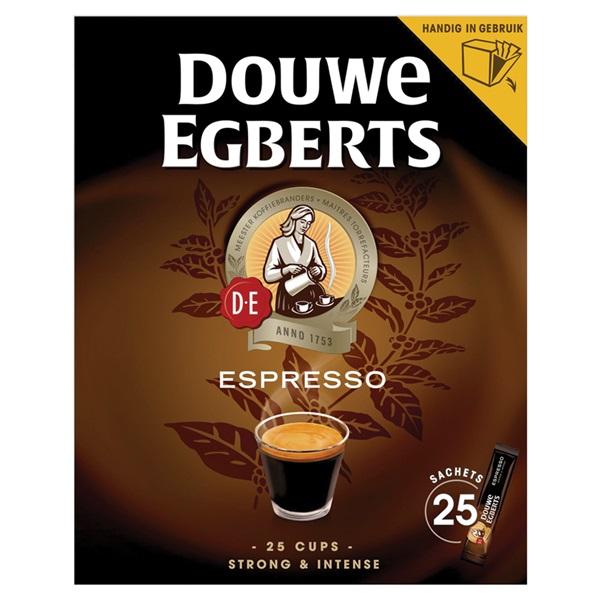 Douwe Egberts oploskoffie Espresso sticks voorkant