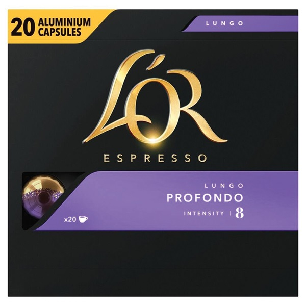 Douwe Egberts L'OR koffiecapsules Lungo Profondo voorkant