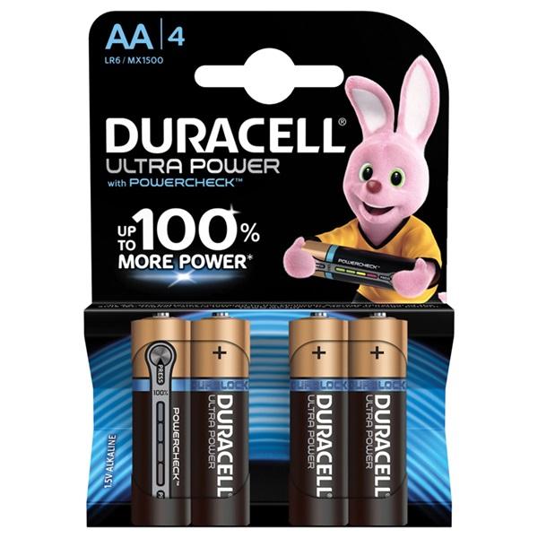 Duracell batterijen ultra power alkaline AA voorkant