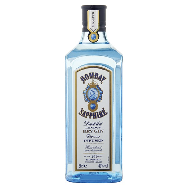 Bombay Sapphire gin voorkant