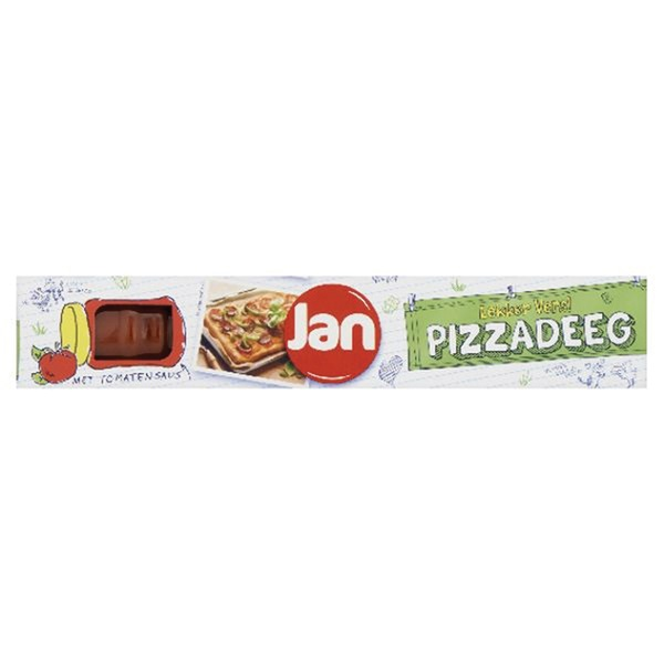 Jan Jan pizzakit met tomatensaus voorkant