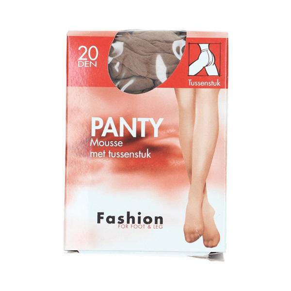 Fashion panty mousse wineblush met tussenstuk maat 48-52, 20 denier voorkant