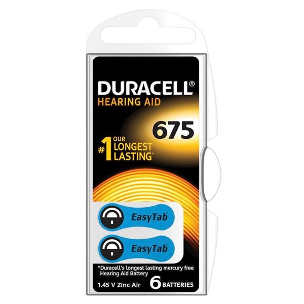 Duracell battarijen hoor 675 voorkant