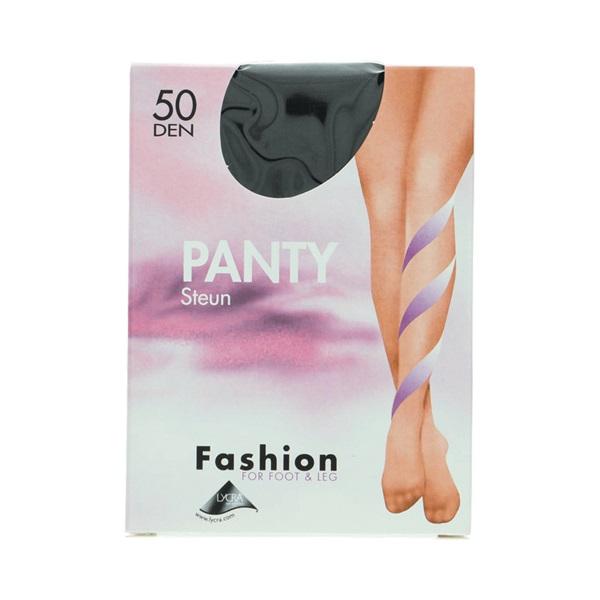 Fashion panty steun zwart maat 40-44, 50 denier voorkant