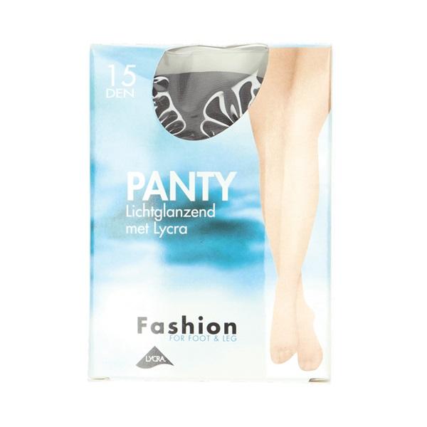 Fashion Panty lichtglanzend grafiet maat 40-44, 15 denier voorkant