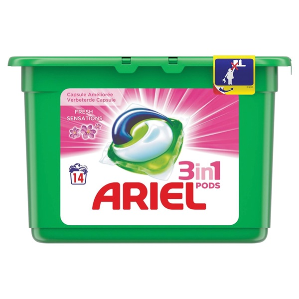 Ariel 3 in 1 pods wascapsules fresh sensations voorkant