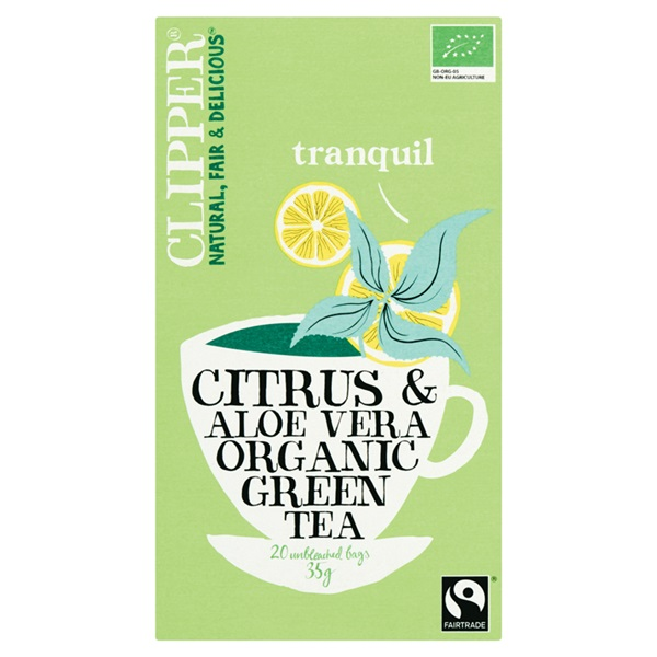 Clipper Clipper groene thee citrus en aloë vera voorkant