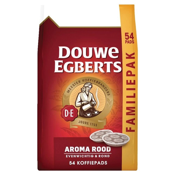 Douwe Egberts koffiepads aroma rood voorkant