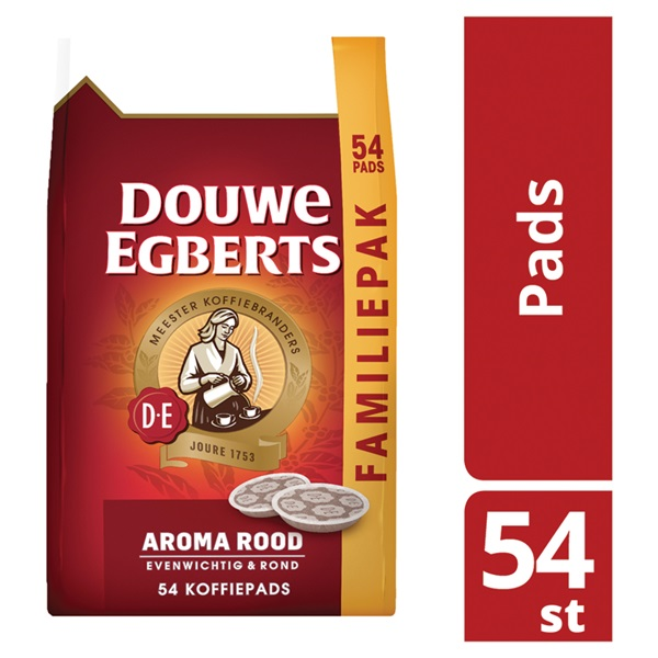 Douwe Egberts koffiepads aroma rood achterkant
