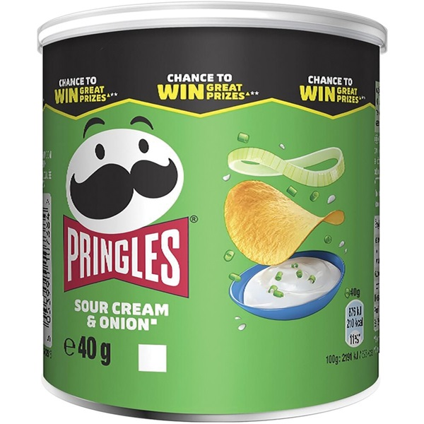 Pringles Chips sour cream & onion voorkant