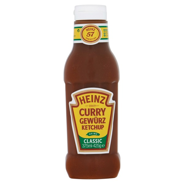 Heinz Ketchup Spiced Curry voorkant