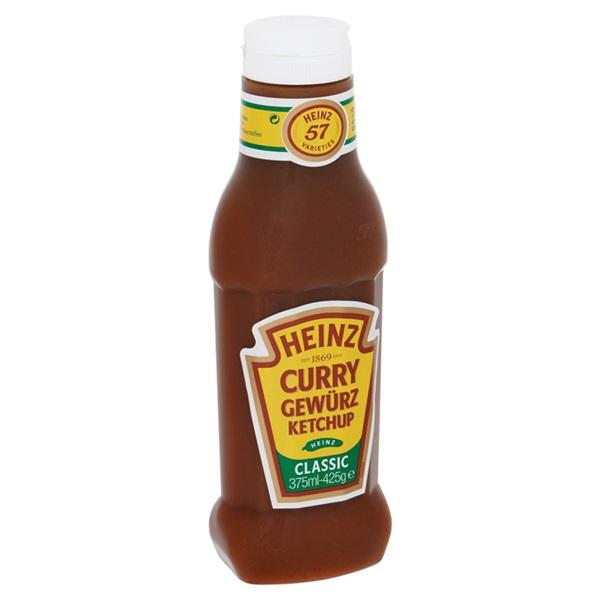 Heinz Ketchup Spiced Curry achterkant