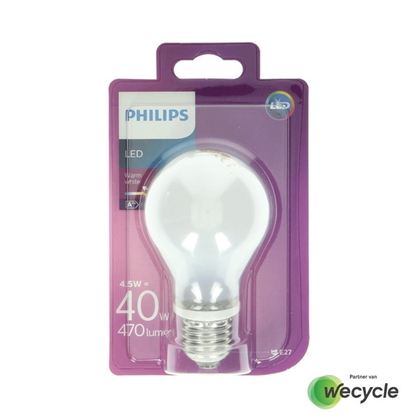 Philips LED lamp E27/4,5W (40W) voorkant