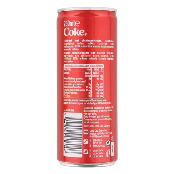 Coca Cola regular achterkant