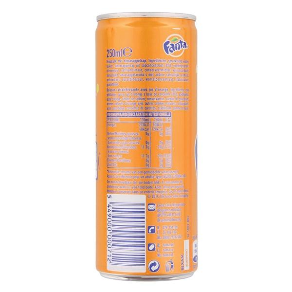 Fanta Orange achterkant