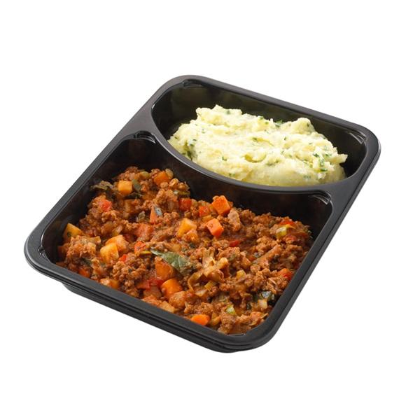 Culivers (14) boerengehaktschotel en aardappelpuree met bieslook achterkant