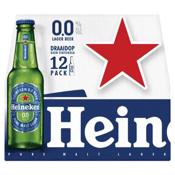 Heineken 0.0 12-pack voorkant