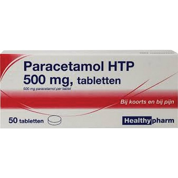 Healthy paracetamol tabletten 500 mg voorkant
