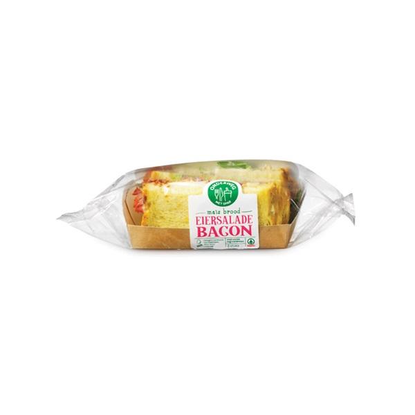 Spar verse belegde boterhammen bacon eiersalade voorkant