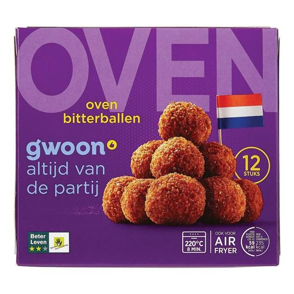 Gwoon oven bitterballen 12 stuks voorkant
