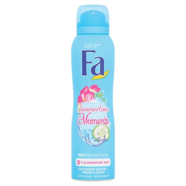 Fa summer times deodorant cucumber water & freesia scent voorkant