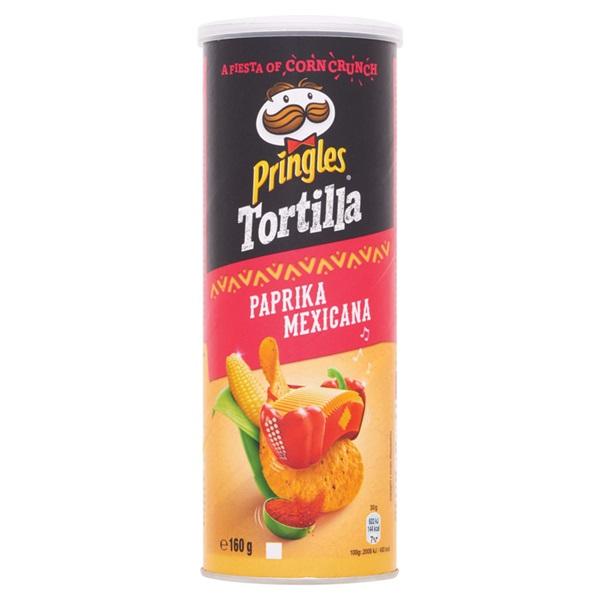 Pringles tortilla hot paprika voorkant