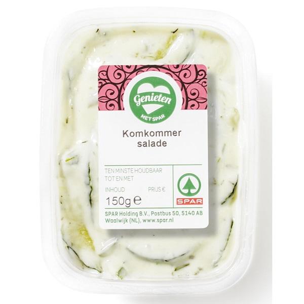 Spar salade komkommer voorkant