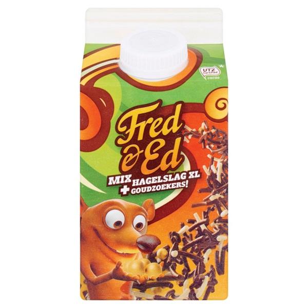 Fred & Ed hagelslag XL met goudzoekers voorkant