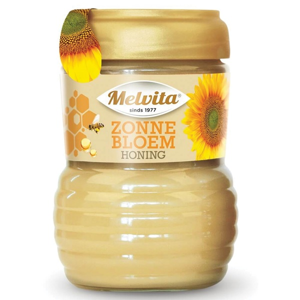 Melvita zonnebloem honing crème voorkant