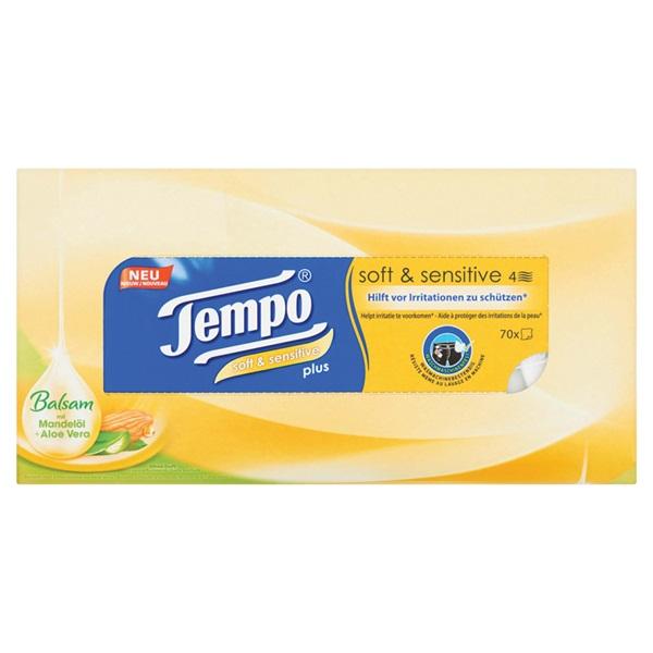 Tempo tissues soft & sensitive plus voorkant