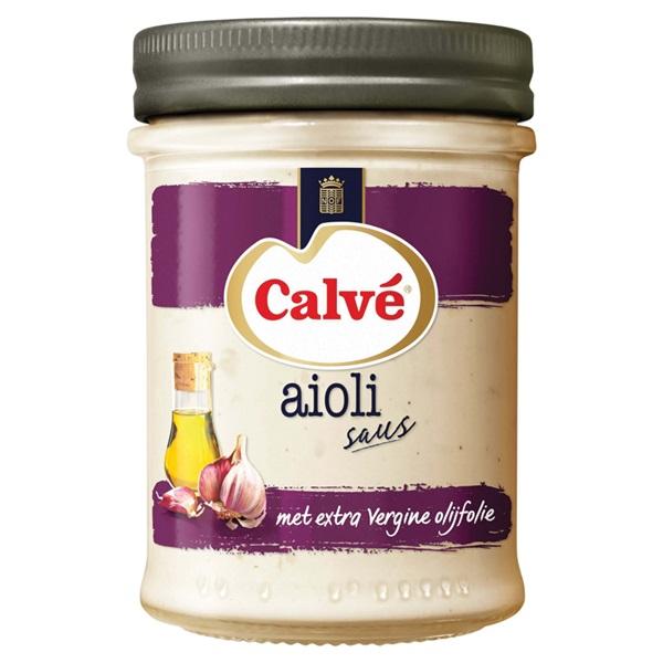 Calvé saus aioli voorkant