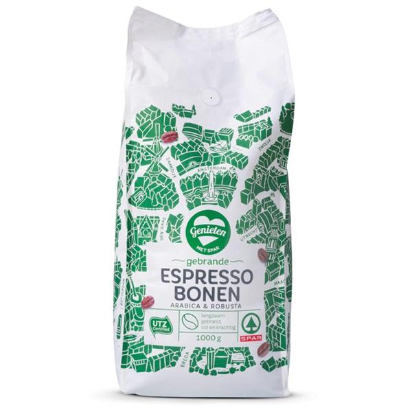 Spar espressobonen regular voorkant
