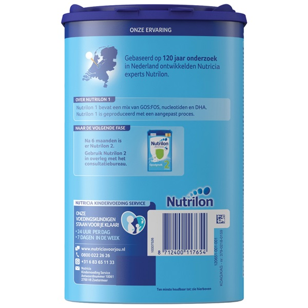 Nutrilon flesvoeding  standaard 1 achterkant