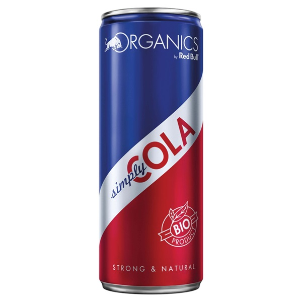 Red Bull organics simply cola voorkant
