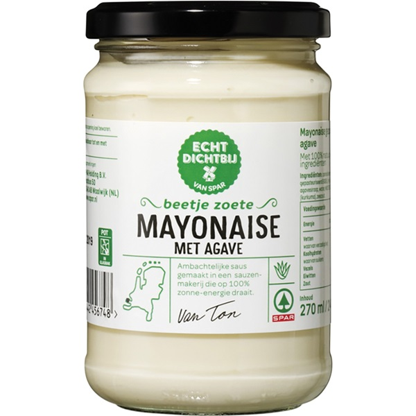 Spar mayonaise agave voorkant