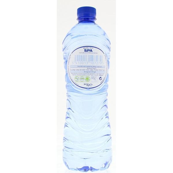 Spa Reine Mineraalwater Fles 1 Liter achterkant