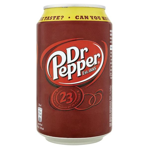 Dr Pepper Cola Blik 33 Cl voorkant